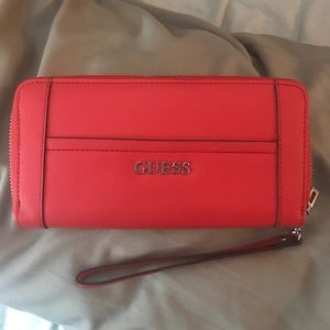 Coral guess saffiano wallet
